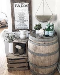 diy ways to decorate with wine barrels