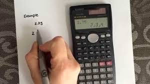 how to convert from a decimal to a fraction using the calculator casio fx 991ms you