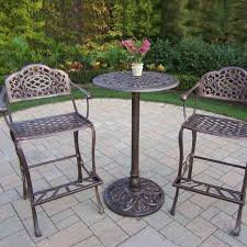 Small Outdoor Table Set 3 Piece Outdoor Bar Height Bistro Set Olzg Cnxconsortiumorg