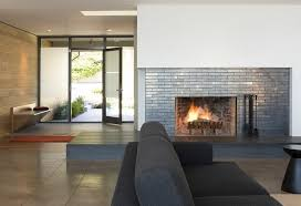 contemporary living room with frosted glass entry doors