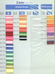 Dmc Embroidery Floss Color Chart Conversion Charts For