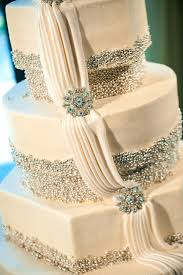 Modern Wedding Cakes Glitter Lace