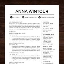Resume Template CV Template For Word Mac Or PC Professional Mesmerizing Professional Resume Design