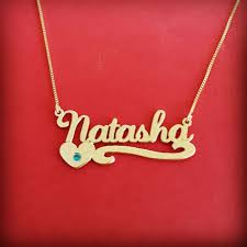 14k solid gold name necklace gold name