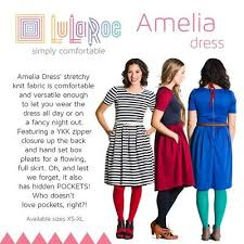 Lularoe Amelia Womens Dress Nwt Ebay