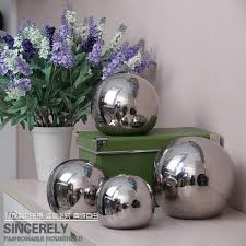 Silver Balls Decor Modern home decorative fashion pastoral pottery decoration art 2