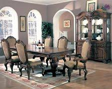 saint charles formal dining room group oak ash finish 7pc dining set table chair