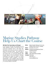 Mnit Org Chart Help Us Chart The Course Marine Studies Pathway Dishs