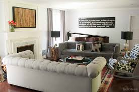 Two Sofa Living Room Design Gray Living Room With A Two Sofa Layout Two Sofas Facing Each