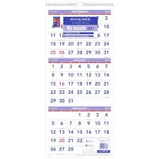 At A Glance 3 Month Calendar At A Glance Wall Calendar 2018 December 2017 January 2019 3