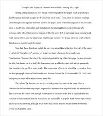 Apa Word Doc Sample Apa Outline Template 8 Free Documents In Pdf