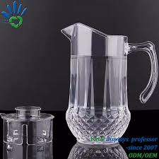 68 ounces acrylic glass pitcher with lid water jug for hot cold water ice tea and juice beverage