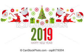 Christmas Design Template Happy Ner 2019 Year Christmas Design Template Paper Art Vector