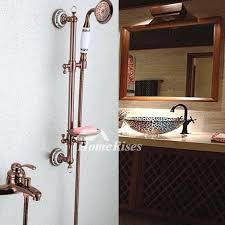 brass shower head uk designer rose gold wall mount fixtures bathroom p
