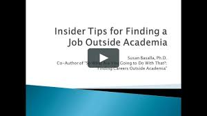 insider tips for finding a job outside academia on vimeo