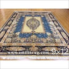 9x12 blue large living room handmade oriental rugs hand knotted 100 silk persian carpets pictures