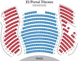 El Portal Theater Seating Chart El Portal Theatre Mainstage Seating Chart Theatre In La