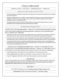 Resumes Cook Resume Line Skills No Experience Head Job Description