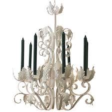 vintage tole acanthus leaf chandelier