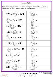 Easter Algebra | Classroom Secrets