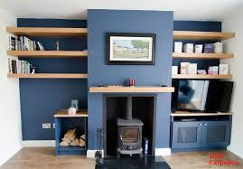 bespoke alcove shelves