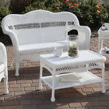 wrought iron wicker outdoor furniture white. White Patio Furniture Set Wrought Iron Wicker Outdoor