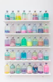 Bottled life // Gorgeous array of pastel colours. I love the mix of all