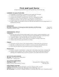 Resume Samples Division Of Student Affairs