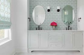 Bathroom Subway Tiles Beach House Master Bath Domesticated Engineer Light Gray In Impressive Design