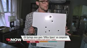 office space computer. Office Space Computer. Wonderful Guy Goes U0027office Spaceu0027 On A Computer With Gun In