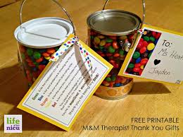 free printable m m the thank you gifts