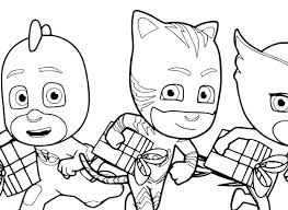 Pj Mask Coloring Pages Together With Masks Coloring Pages To Prepare