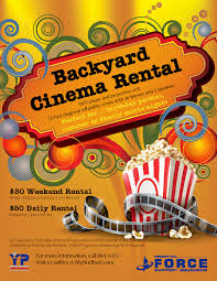 hurlburt field teen center backyard cinema rental