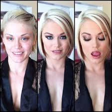 ash hollywood actress before and after makeup parison photo