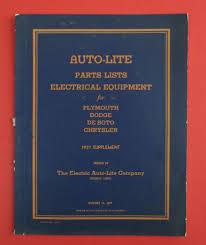 vintage auto lite parts list 1937 supplement for electrical vintage auto lite parts list 1937 supplement for electrical equipment for plymouth dodge