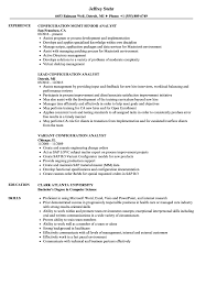 Changing Job Title On Resume Best Of Analyst Configuration Resume Samples Velvet Jobs