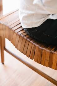 cool industrial furniture.  Industrial Block Wood Bench Curves Fit Your Body Closer To Cool Industrial Furniture L