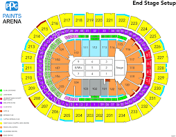 Stage Ae Pittsburgh Pa Seating Chart Ppg Paints Seating Chart Penguins Www Bedowntowndaytona Com