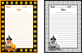 free halloween stationery templates halloween printable worksheets colorful creative writing worksheets