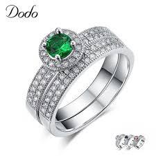 Online Shop <b>Green</b>/Blue/Red Stone Ring Sets <b>S925</b> Sterling <b>Silver</b> ...
