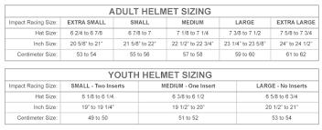 Equestrian Helmet Size Chart Impact Draft Ts Auto Racing Helmet Sa2015