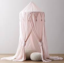 Cotton Voile Play Canopy - Petal