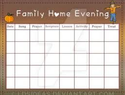 Family Home Evening Chart Ideas Fhe Chart Fall 3 By Ldsideas On Deviantart