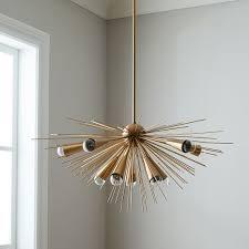 sputnik chandelier brass