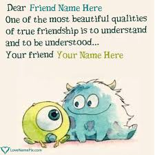 Cute Best Friend Quotes Stunning Write Name On Cute Best Friend Quotes Picture