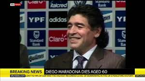 Sky News - Diego Maradona has died at ...
