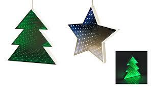 Led Deko Tanne Oder Stern Mit Unendlichkeitseffekt Weihnachtsdeko Fensterdeko