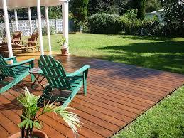 Simple Wood Patio Ideas A Gorgeous Backyard Ground Level Deck Decksbackyard Designsdeck To Beautiful Design