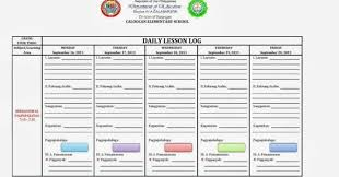 Daily Lesson Plan Template Deped Daily 5175451024835 English