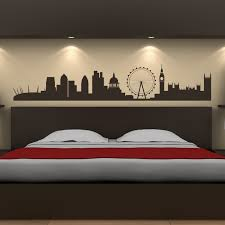london city skyline wall sticker uk cityscape wall decal office bedroom decor